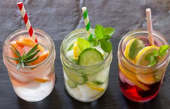Water in a Glass With Fruit